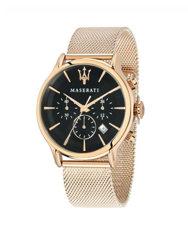 Maserati Epoca with Black Dial & Gold Mesh Strap Men's Watch