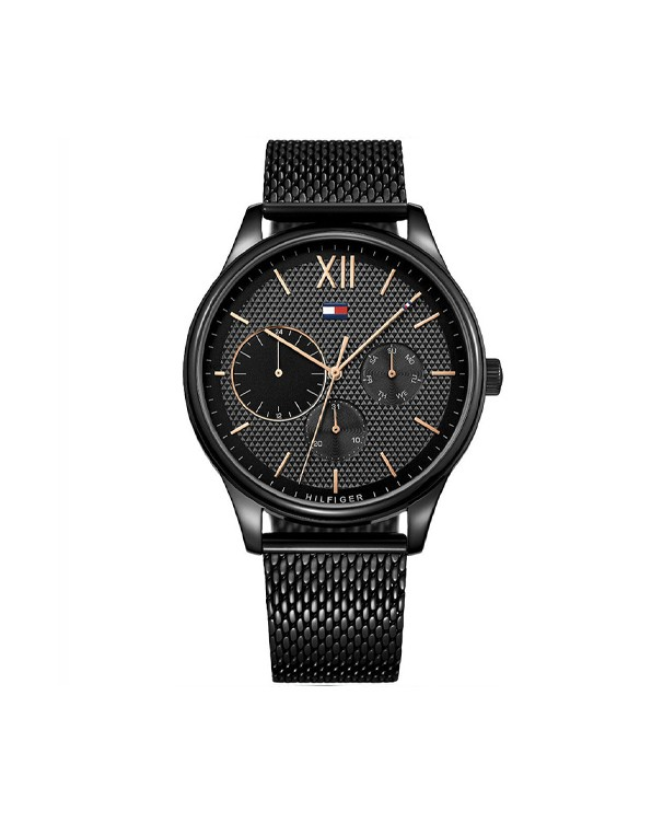 Tommy Hilfiger Damon Black Dial And Black Stainless Steel