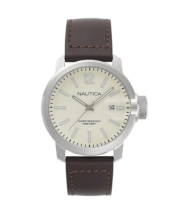 NAUTICA SYDNEY with Brown Strap Men's Watch