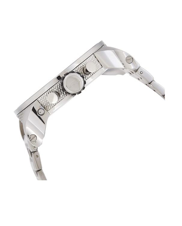 DIESEL Super Bad Ass Oval Analog & Digital Silver Dial Men's Watch