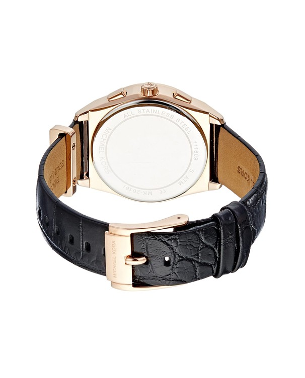 Michael Kors Vail with Leather Black Stap Women's Watch