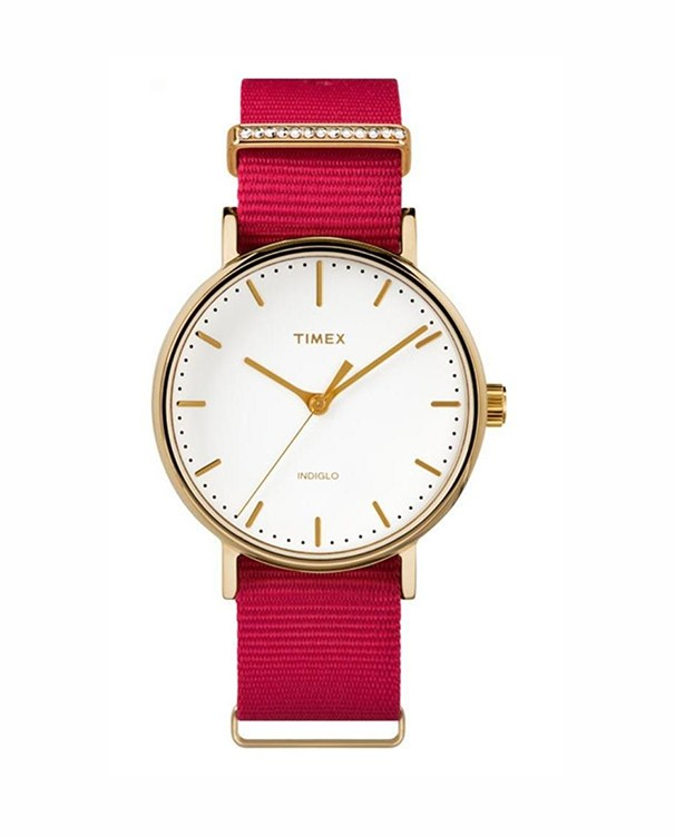 Timex Weekender with White Dial lLady's Watch