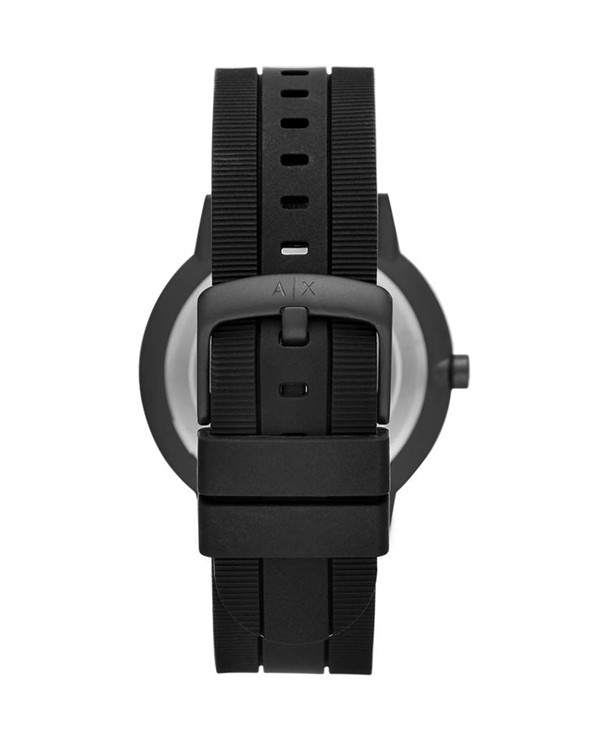Armani Exchange Cayde  with Black Silicone Strap  Men's Watch