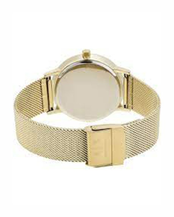 Armani Exchange Lola with Gold Stainless Steel Mesh Bracelet Women's Watch