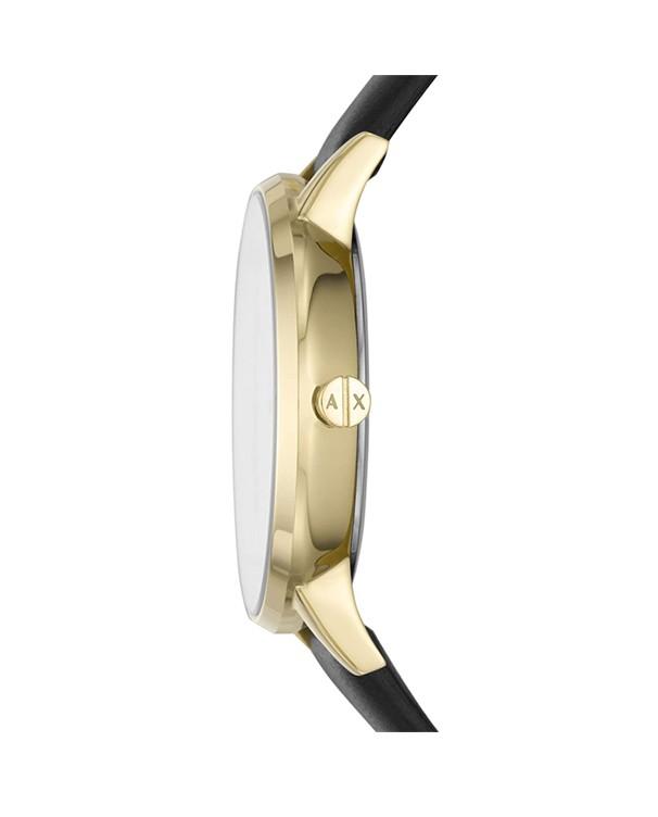 Armani Exchange Lola with Black Leather Strap Women's Watch