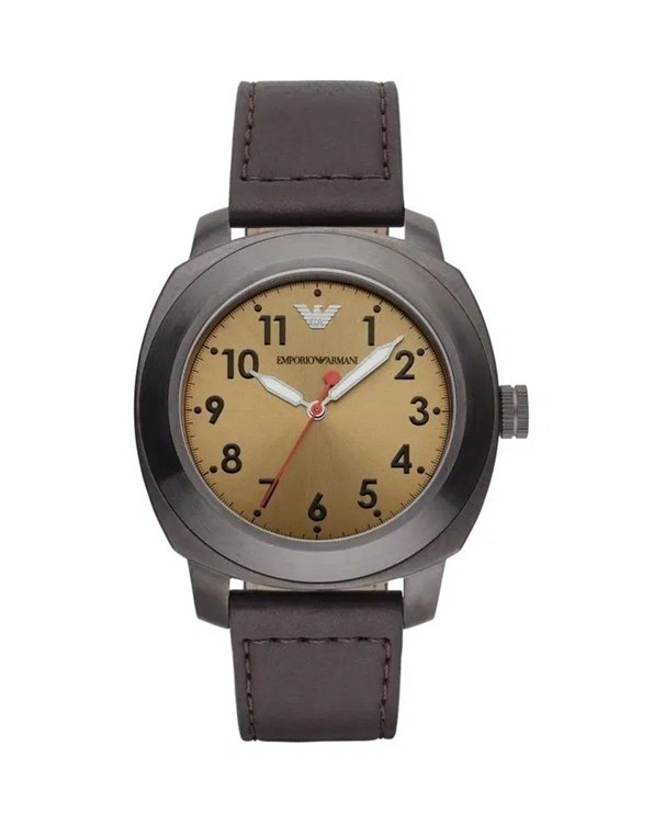 EMPORIO ARMANI DELTA with Leather Strap Men's Watch