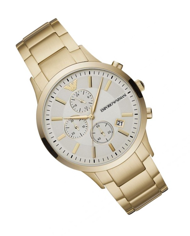 Emporio Armani Renato with Golden Strap Men's Watch