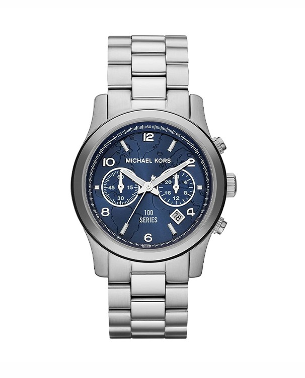 Michael Kors Hunger Chronograph with Blue Dial Unisex Watch