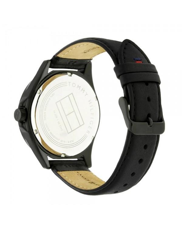 Tommy Hilfiger with Dial & Black Calfskin Strap Men's Watch
