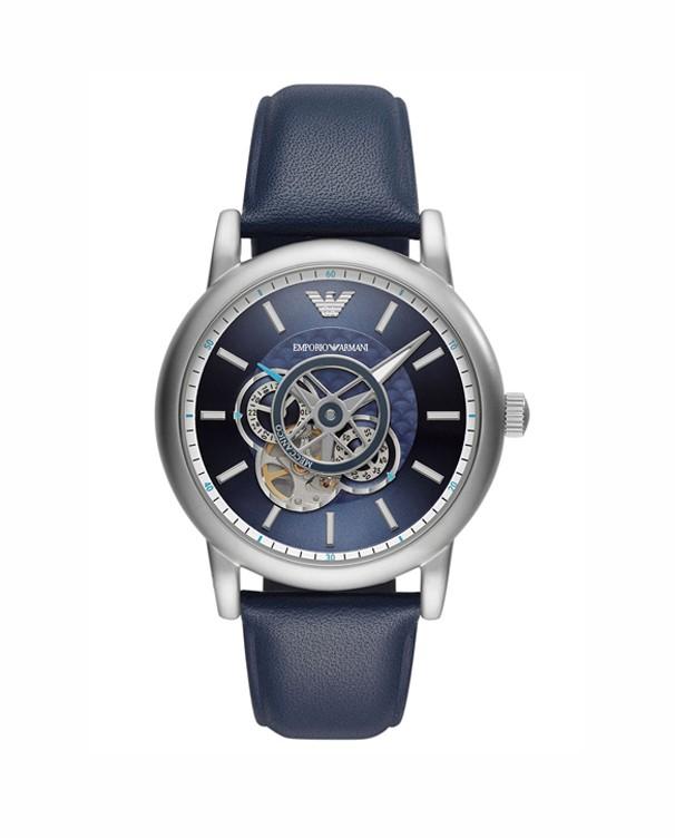 Emporio Armani Meccanico Luigi  with Blue Leather Strap Men's Watch