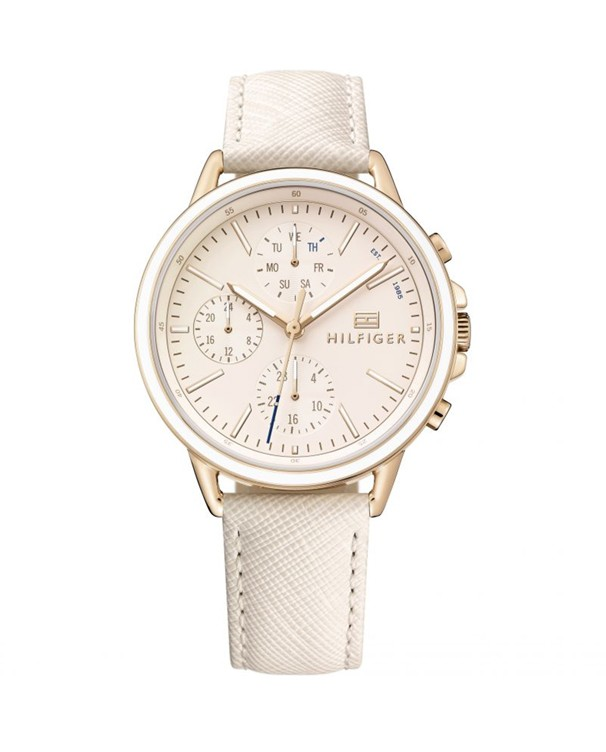 Tommy Hilfiger Carly with Chronograph Cream Dial Women's Watch