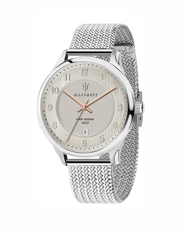 Maserati Gentleman with Silver Mesh Strap Men's Watch