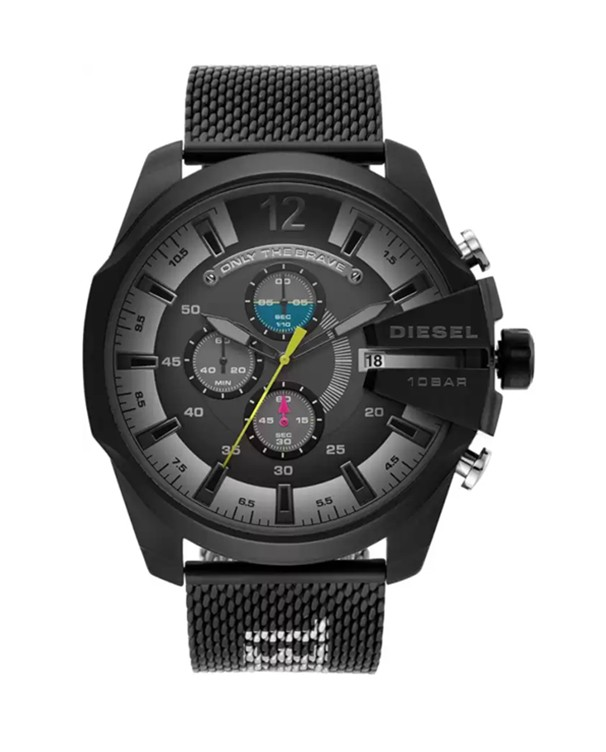 Diesel Mega Chief with Chronograph Black Dial Men Watch