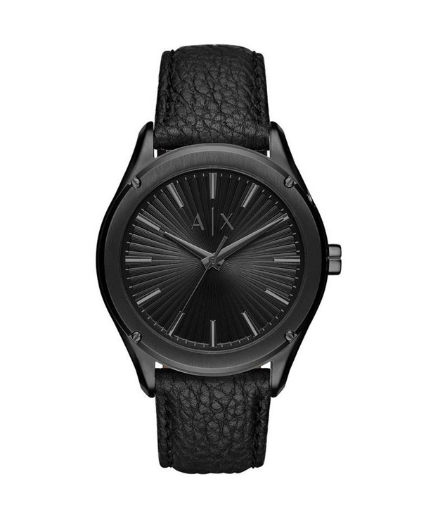 Armani Exchange Fitz with Black Dial & Leather Strap Men's Watch