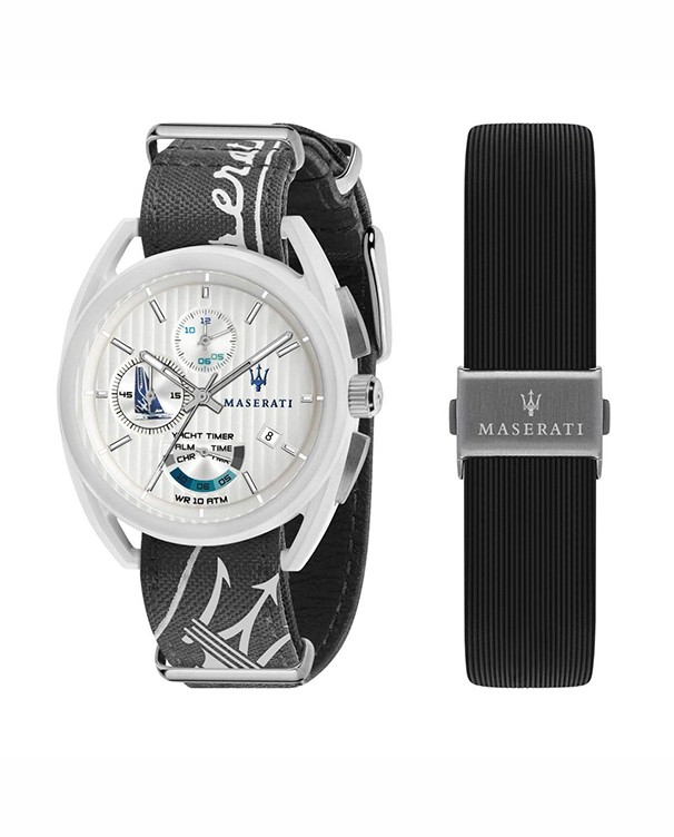 Maserati Model Trimarano Special Pack with Extra Strap Men's Watch